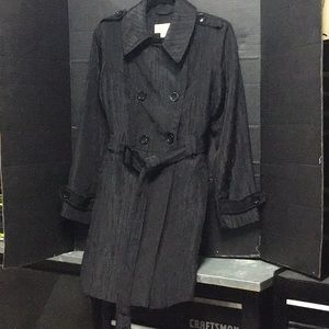 Michael Kors black light weight trench coat